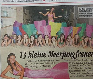 Mermaid Kat in the international media
