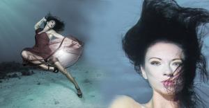 Mermaid Kat is an underwater stunt model