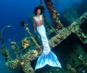 Mermaid Kat works as a professional mermaid