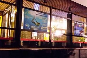Billboard with professional Mermaid Kat