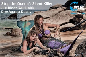 Environmentalist Mermaid Kat supports Project Aware