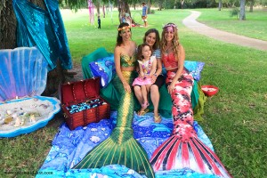 Mermaid Kat and the Eco Faeries for Earth Hour in Perth