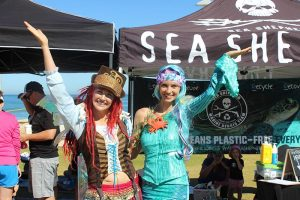 Mermaid Kat and the Eco Faeries support Sea Shepherd in Perth Australia