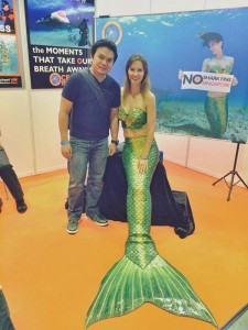 Mermaid Kat at ADEX in Singapore