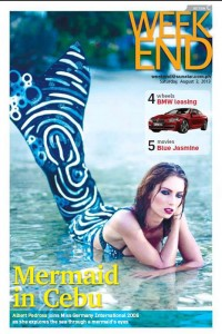 Mermaid Kat is cover model for magazine