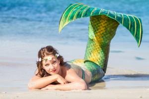 Mermaid Kat on a beach in Perth, Western Australia