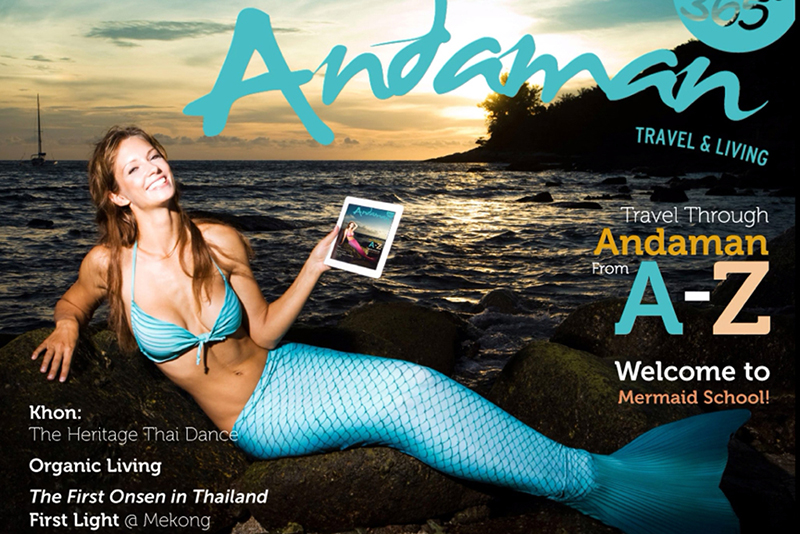 Mermaid Kat on cover of Andaman 360