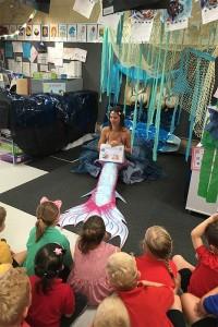 Mermaid Kat performing at Hillarys Primary School in Perth, Australia