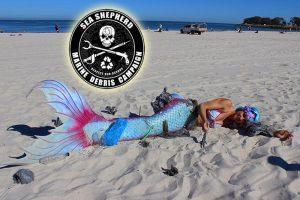 Mermaid Kat supports Sea Shepherd Marine Debris Campaign Australia in Perth