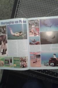 Mermaid Model Kat in Thai magazine