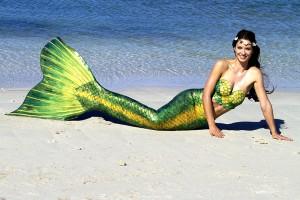 Mermaid Model Kat in her professional Silicone Mermaid Tail in Perth