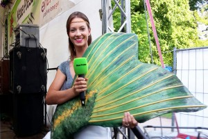 Mermaid entertainer Kat on stage