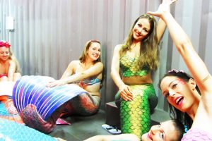 Mermaid performers entertain at events in Perth
