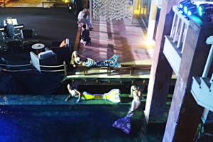 Mermaids entertaining at Trisara Resort in Phuket, Thailand