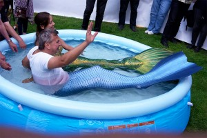 Perth Mermaid Kat performing at event in Germany