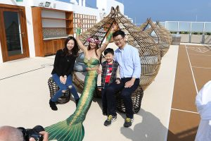 Perth mermaid for international events