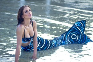 Professional Mermaid Kat enjoys the sea in the Philippines