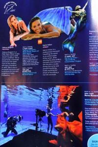 Professional Mermaid Kat in magazine in Singapore