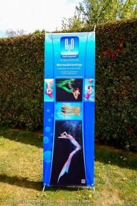Professional Mermaid Kat on banner for Austrian Mermaids