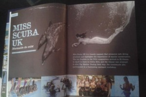 Professional mermaid Kat in El Gouna Magazine