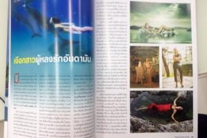 Professional mermaid Kat in Phuket Bulletin
