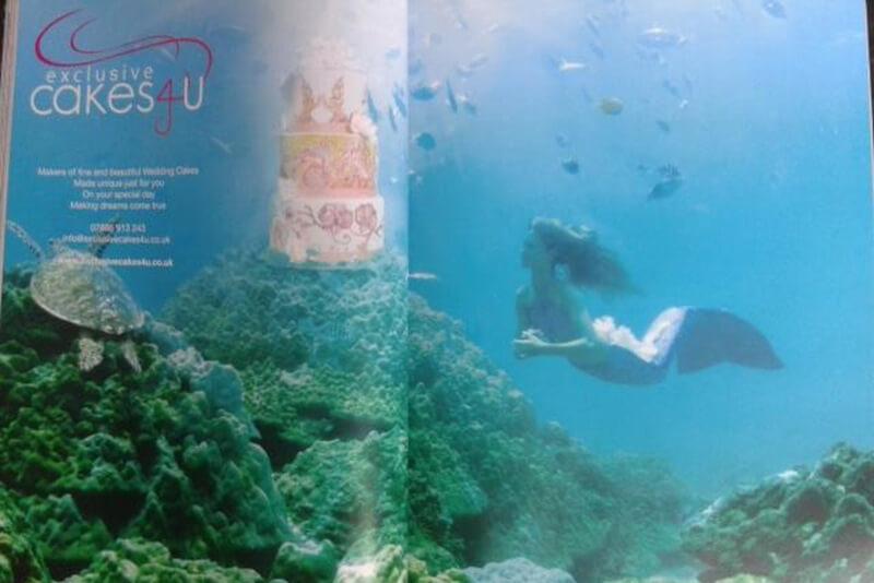 Professional underwater mermaid Kat for Asian Bride Magazine