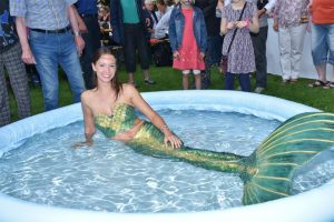 Real Mermaid Kat performing at event in Germany