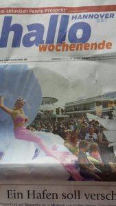 Kats mermaid entertainers in the newspapers