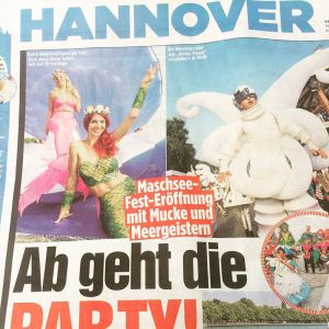 Mermaid Kat in the German Newspaper after event