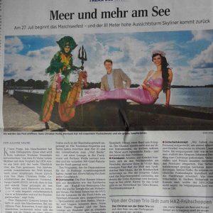 Professional Mermaid Kat in the German media