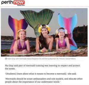 Professional Mermaid Kat is based in Perth