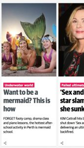 Professional Mermaid Katrin Gray on Perth Now