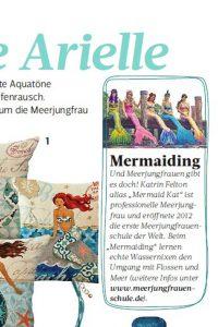 Professional mermaid school in German magzine