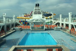 Main Pool for Mermaid on Asian Cruise Liner