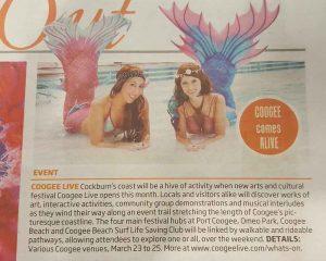Perth mermaids Kat and Meggi at Coogee Live