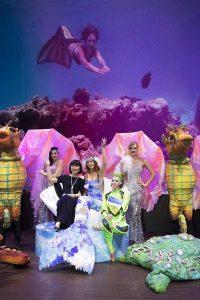 Professional Mermaid Kat performing on Dream Cruises ship World Dream in Hong Kong