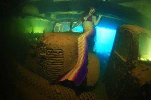 Real mermaid at Chuuk Lagoon, Truk Lagoon