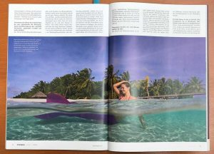 Professional Mermaid Kat in Pole Art Magazine