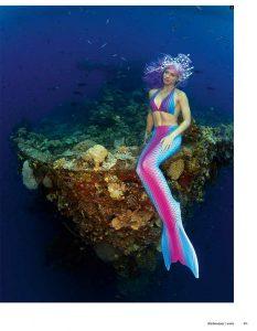 A real Mermaid in Truk Lagoon - Mermaid Kat in Bluescape Magazine