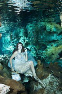 International Underwater Model Katrin Gray at Hilario Cenote Mexico