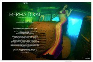 Professional Mermaid and Unterwater Model Mermaid Kat in Truk Lagoon