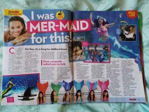 Professional Mermaid Kat in That's Life Magazine Australia