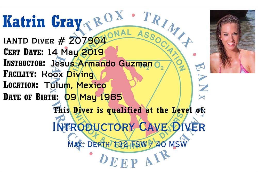 Professional mermaid Katrin Gray is certified cave diver