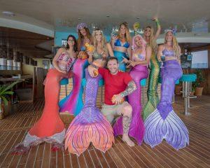 Mermaid Kat and Ian Gray at Mermaid Week Maldives