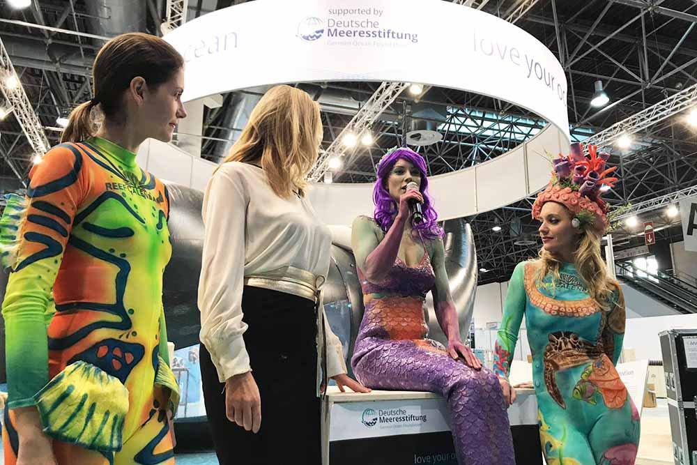 Mermaid Kat talking for German Sea Foundation