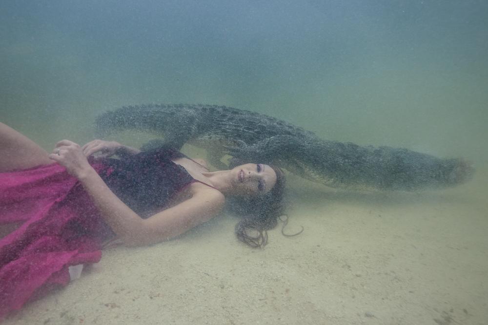Underwater Stuntwoman