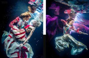 Unterwatershoot with Underwater Model Katrin Gray