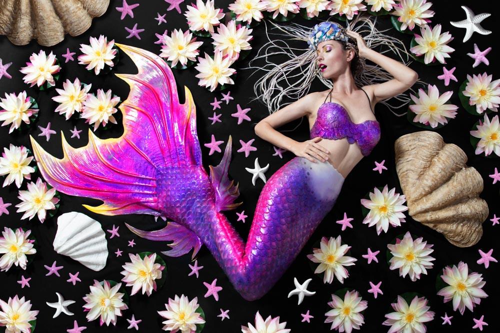 Mermaid Photo Shoot - Mermaid Kat in her Silicone Mermaid Tail