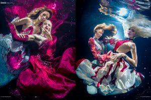 Underwater Models Katrin Gray und Delia Thranberend Underwater Photo Shoot for GEZNO Magazine - Underwater Photographer Konstantin Killer